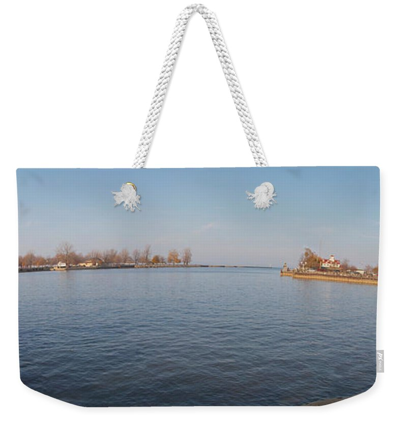 Genesee River Weekender Tote Bag featuring the photograph Genesee Basin by William Norton