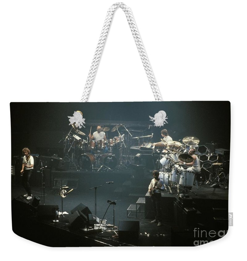 Phil Collins Weekender Tote Bag featuring the photograph Genesis by Concert Photos
