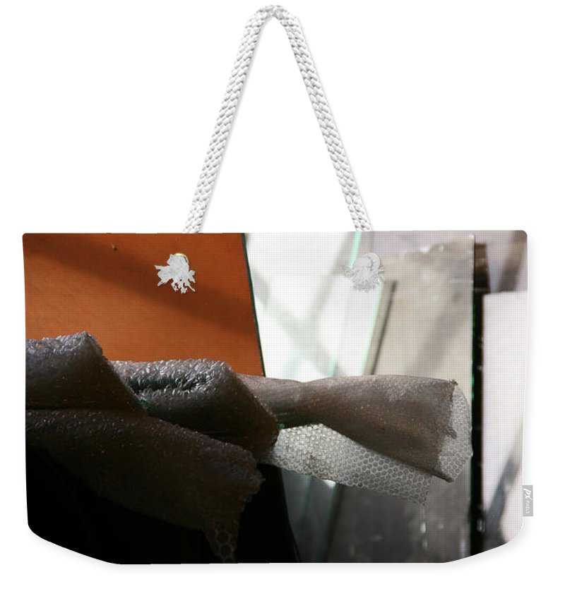 Hippo Hardware Weekender Tote Bag featuring the photograph Geometric Still Life by Elizabeth Rose