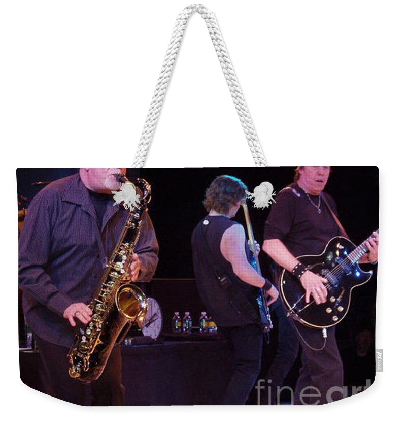 George Thorogood And The Destroyers Weekender Tote Bag featuring the photograph George Thorogood And The Destroyers by John Telfer