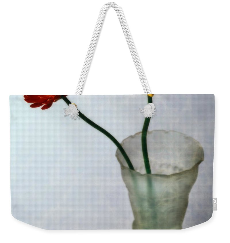 Flora Weekender Tote Bag featuring the photograph Gerbera Jamesonii by Edmund Nagele