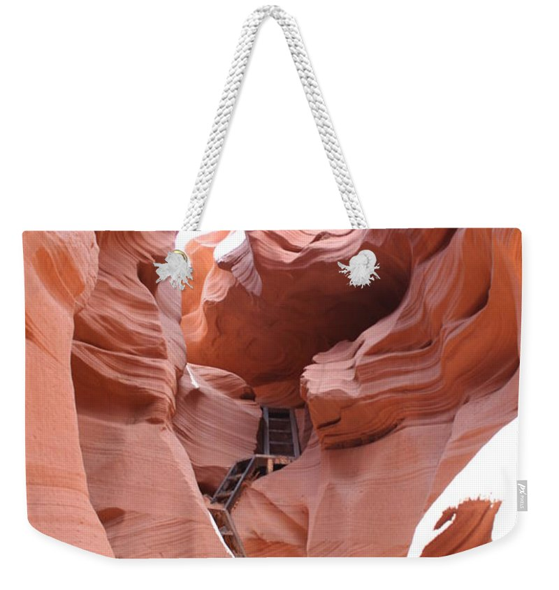 Canyon Weekender Tote Bag featuring the photograph Get To The Bottom by Christiane Schulze Art And Photography