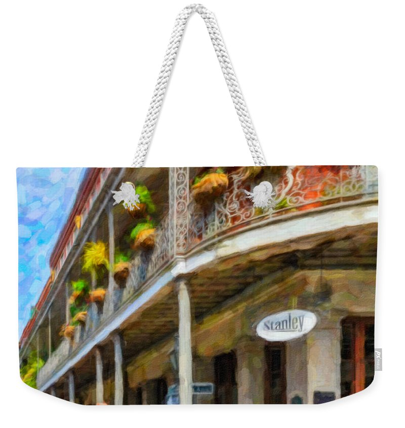 French Quarter Weekender Tote Bag featuring the photograph Getting Around The French Quarter - Watercolor by Steve Harrington