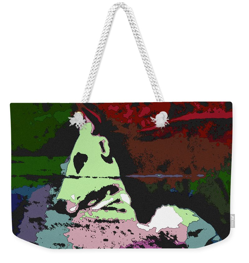 Bull Weekender Tote Bag featuring the photograph Ghost Cow by George Pedro
