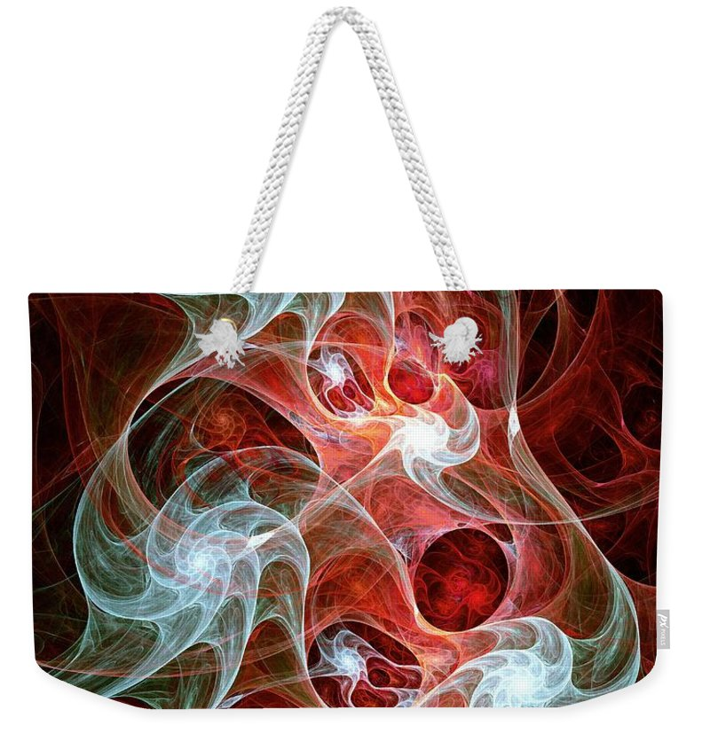 Malakhova Weekender Tote Bag featuring the digital art Ghost Flames by Anastasiya Malakhova