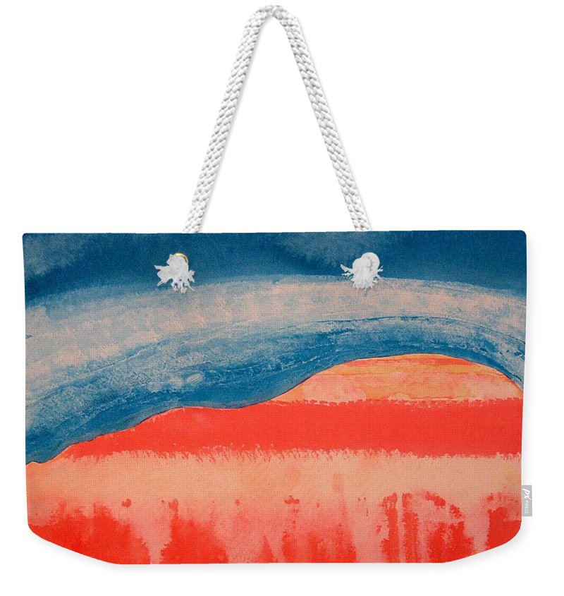Georgia O'keeffe Weekender Tote Bag featuring the painting Ghost Ranch Original Painting by Sol Luckman