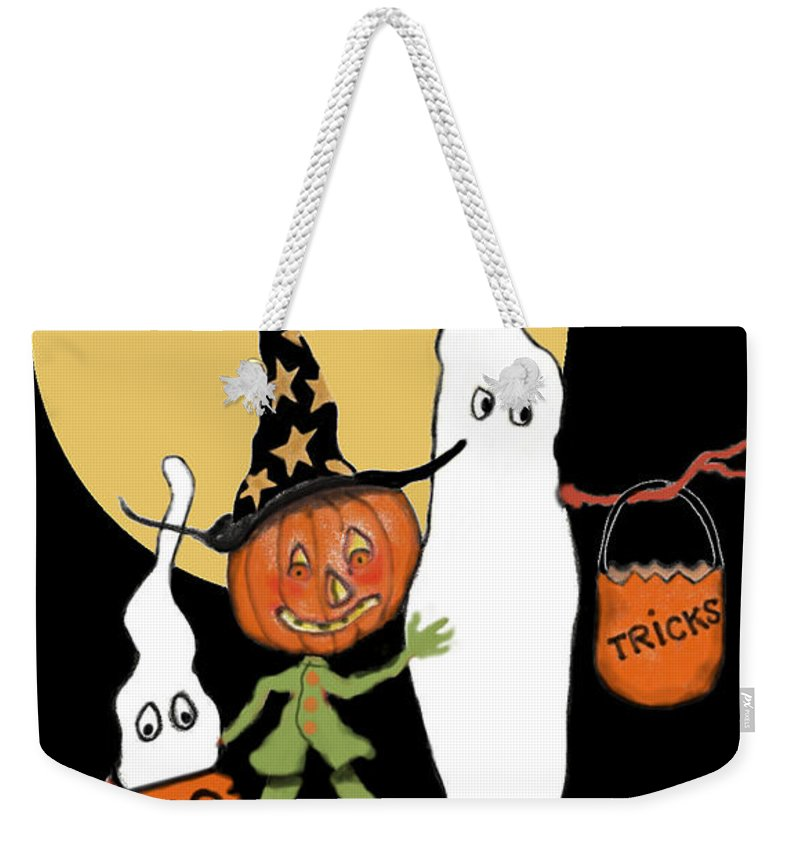 Halloween Weekender Tote Bag featuring the painting Ghost Sandwich by Carol Jacobs