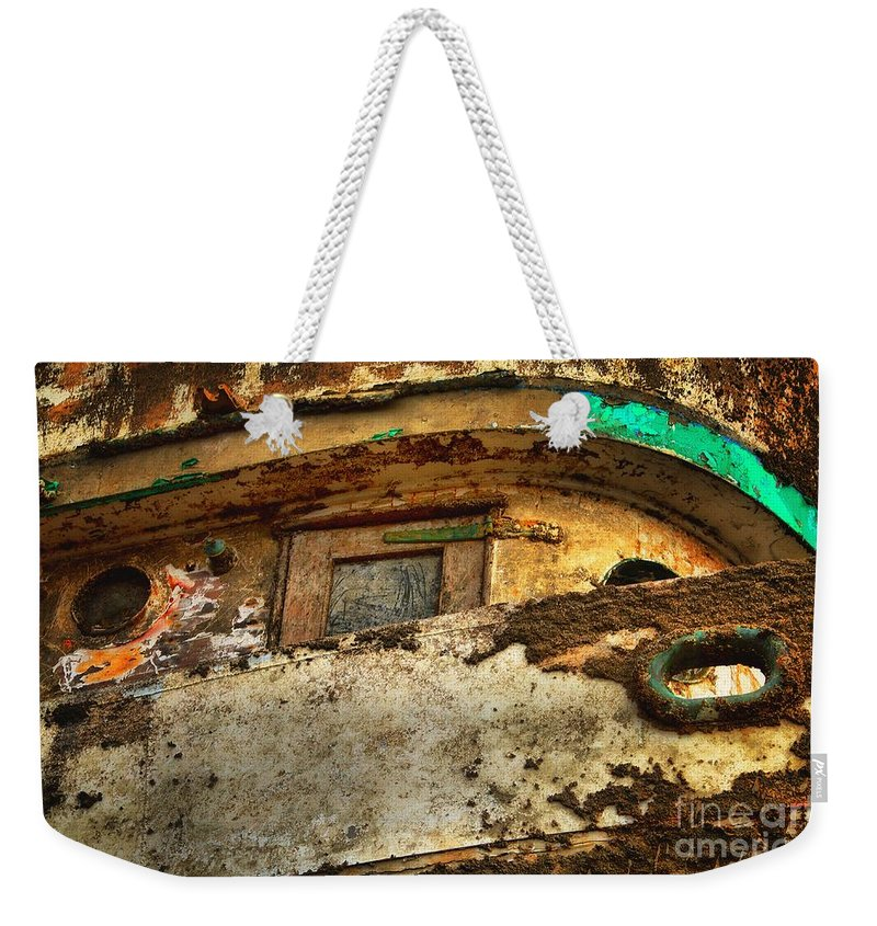 Abstract Weekender Tote Bag featuring the photograph Ghost Ship by Lauren Leigh Hunter Fine Art Photography