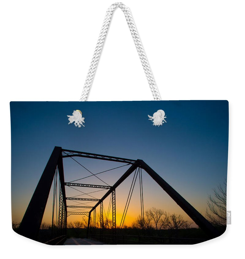 Bridge Weekender Tote Bag featuring the photograph Ghost Town Bridge by David Downs