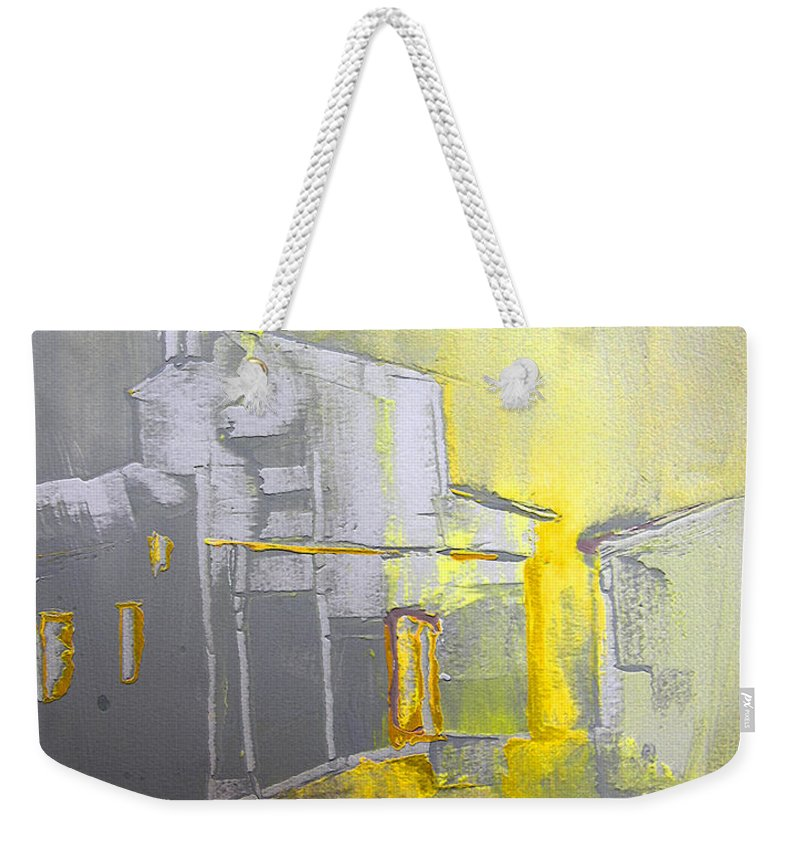 Ghost Town Weekender Tote Bag featuring the painting Ghost Town In Spain by Miki De Goodaboom