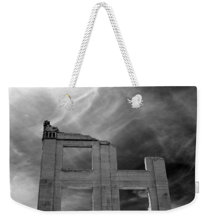 Ghost Weekender Tote Bag featuring the photograph Ghost Wall. by Jennifer Ann Henry