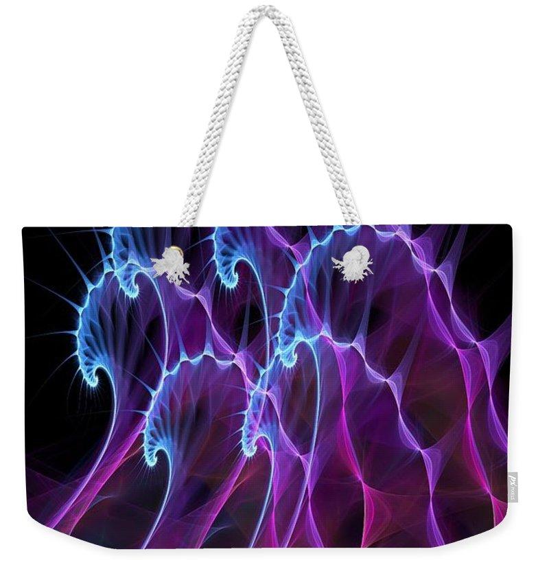 Malakhova Weekender Tote Bag featuring the digital art Ghost Waves by Anastasiya Malakhova