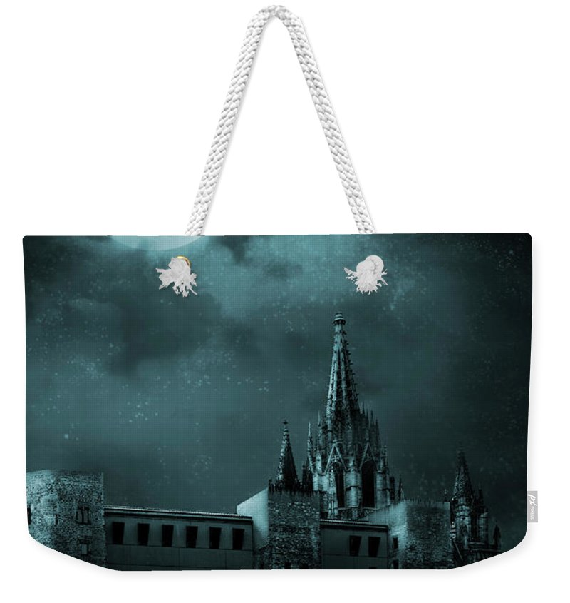 Gothic Style Weekender Tote Bag featuring the photograph Ghosts In The Empty Town by Vladgans