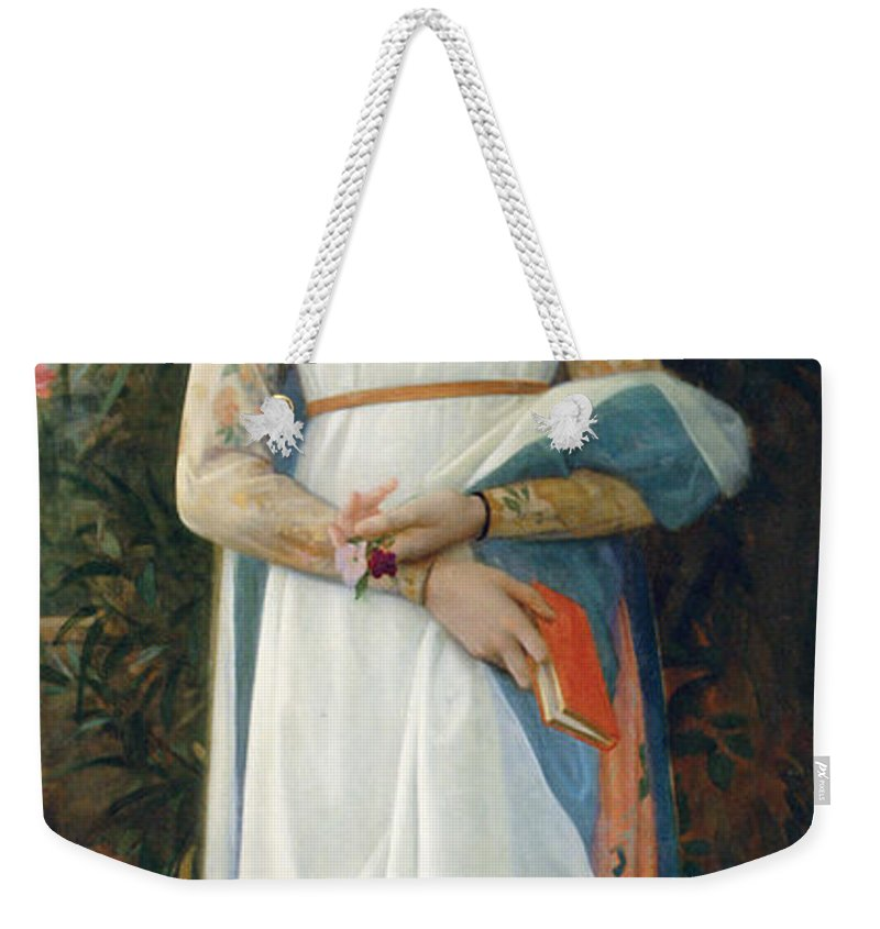 Giacomina Weekender Tote Bag featuring the digital art Giacomina by Alexandre Cabanel