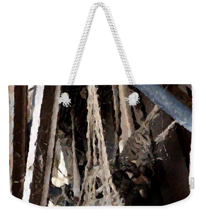 Nature Weekender Tote Bag featuring the photograph Giant Spiders Web by Doc Braham