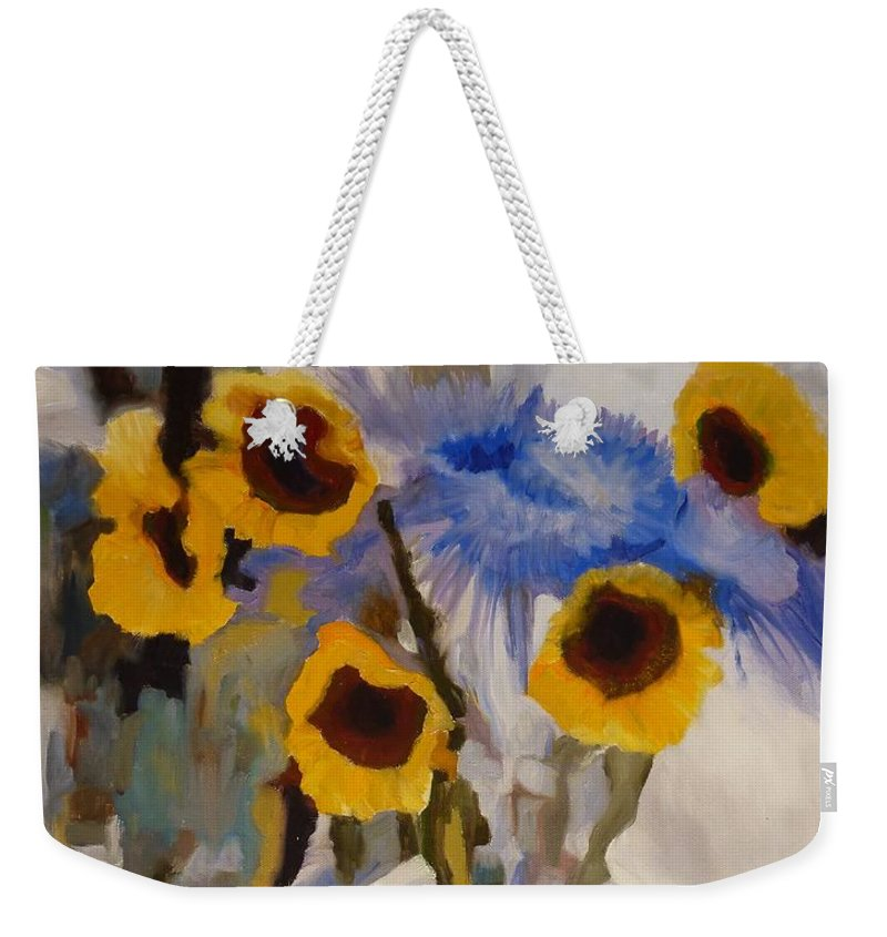 Still-life Weekender Tote Bag featuring the painting Gifts Of The Sun by Susan Duda