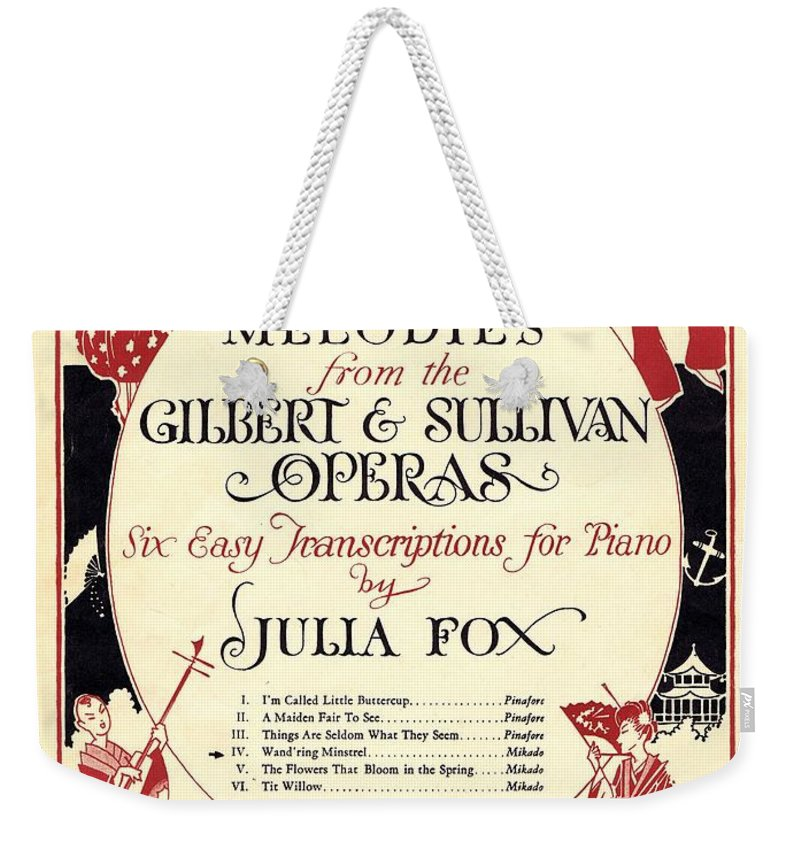 Nostalgia Weekender Tote Bag featuring the photograph Gilbert And Sullivan Operas by Mel Thompson