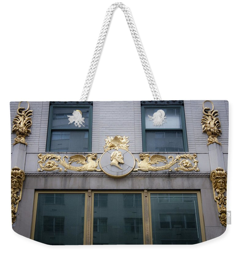Gilded Weekender Tote Bag featuring the photograph Gilded Beauty by Teresa Mucha