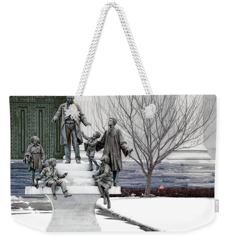 Girard College Weekender Tote Bag featuring the photograph Girard And His Orphans by Alice Gipson