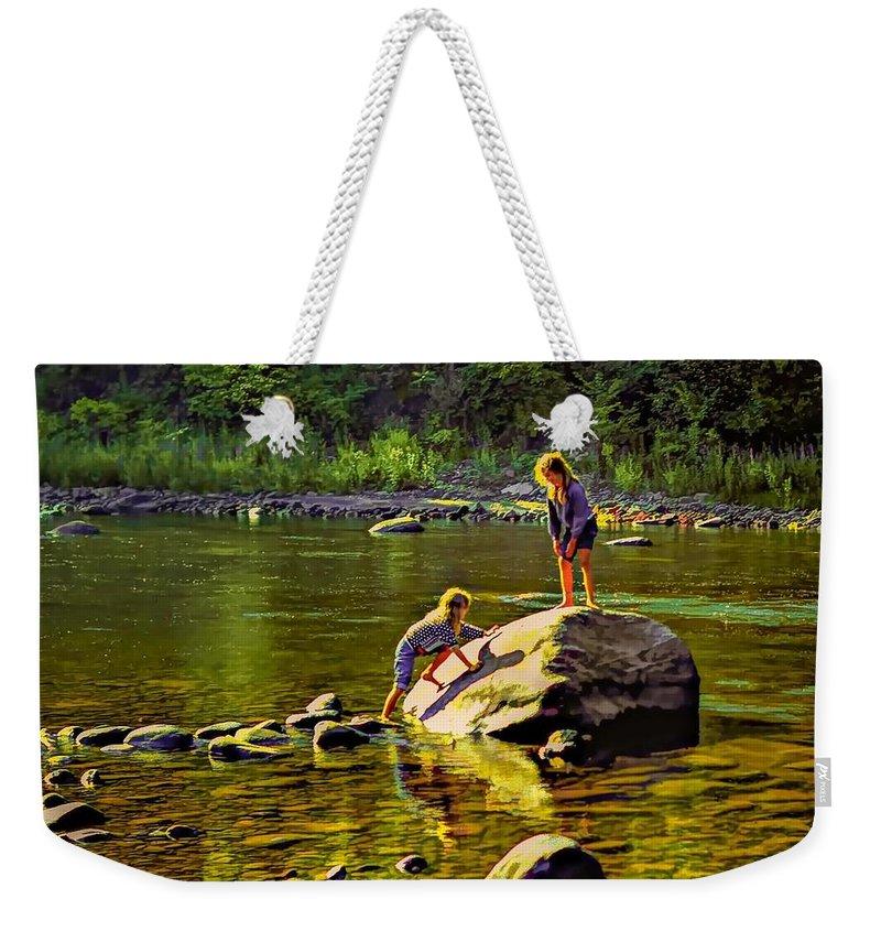 Girls Weekender Tote Bag featuring the photograph Girlfriends by Steve Harrington