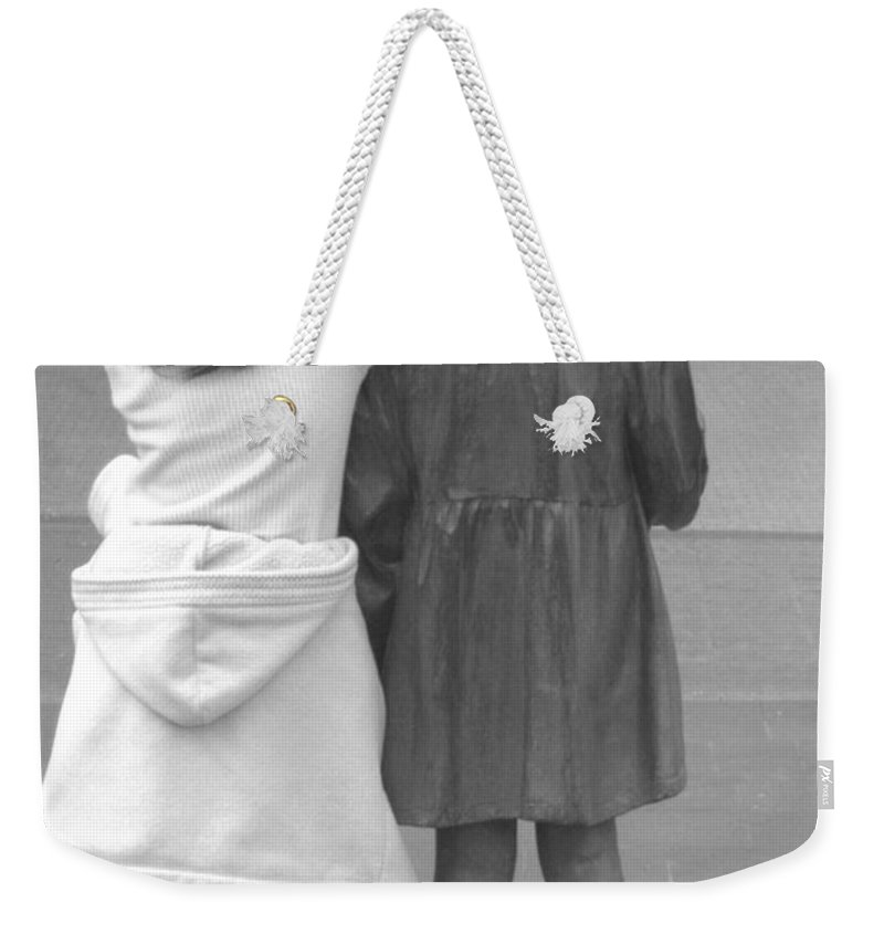 Girls Weekender Tote Bag featuring the photograph Girls by Andrea Anderegg