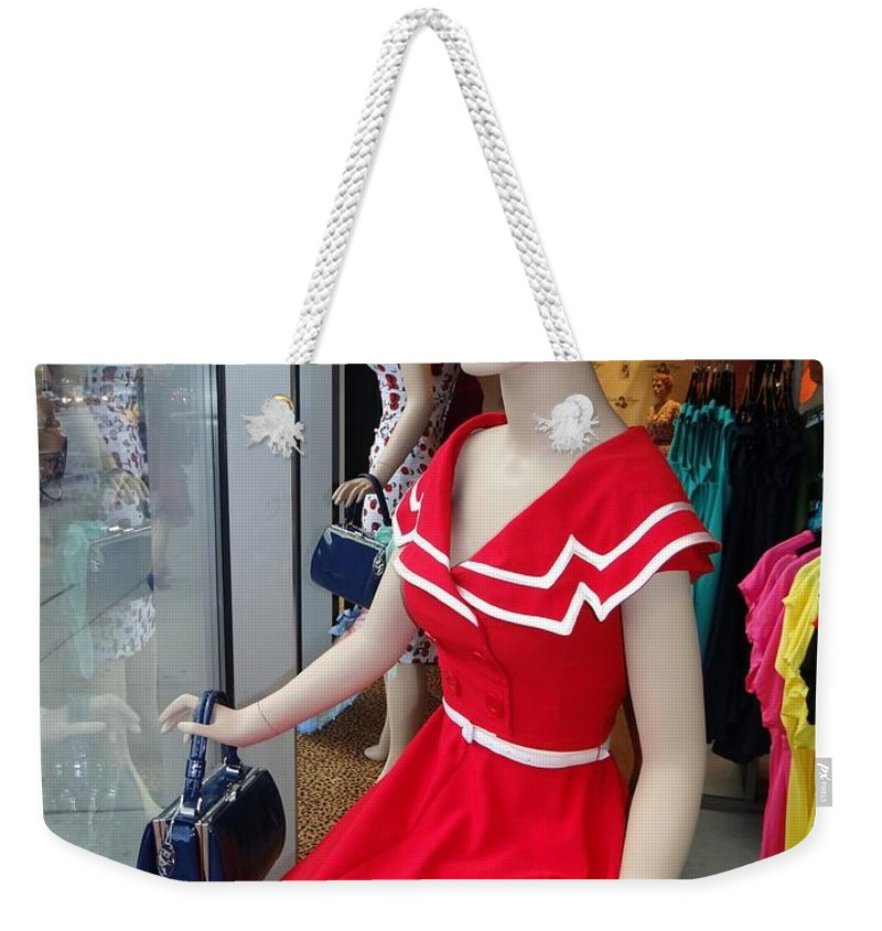 Mannequins Weekender Tote Bag featuring the photograph Girls On Display by Ed Weidman
