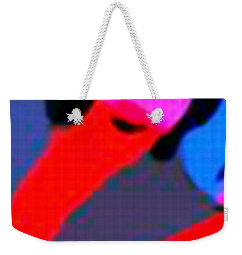 Gisha Girl Abstract Weekender Tote Bag featuring the digital art Gisha Girls Abstract by John Malone