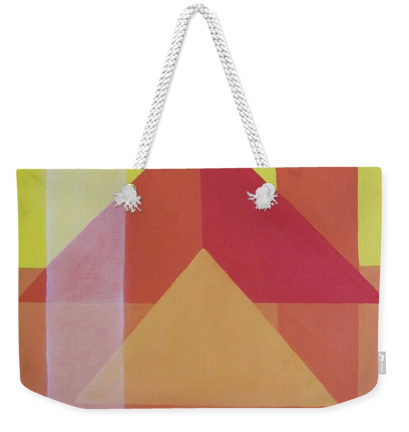 Giza Weekender Tote Bag featuring the painting Giza by Michael TMAD Finney AKA MTEE