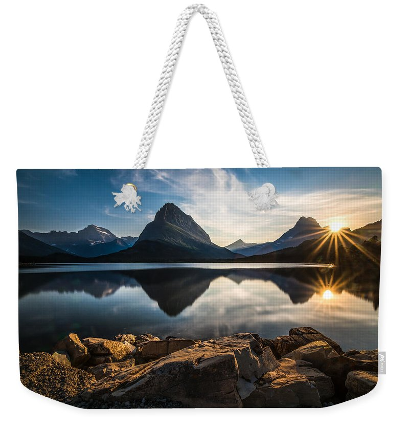 Glacier Weekender Tote Bag featuring the photograph Glacier National Park by Larry Marshall