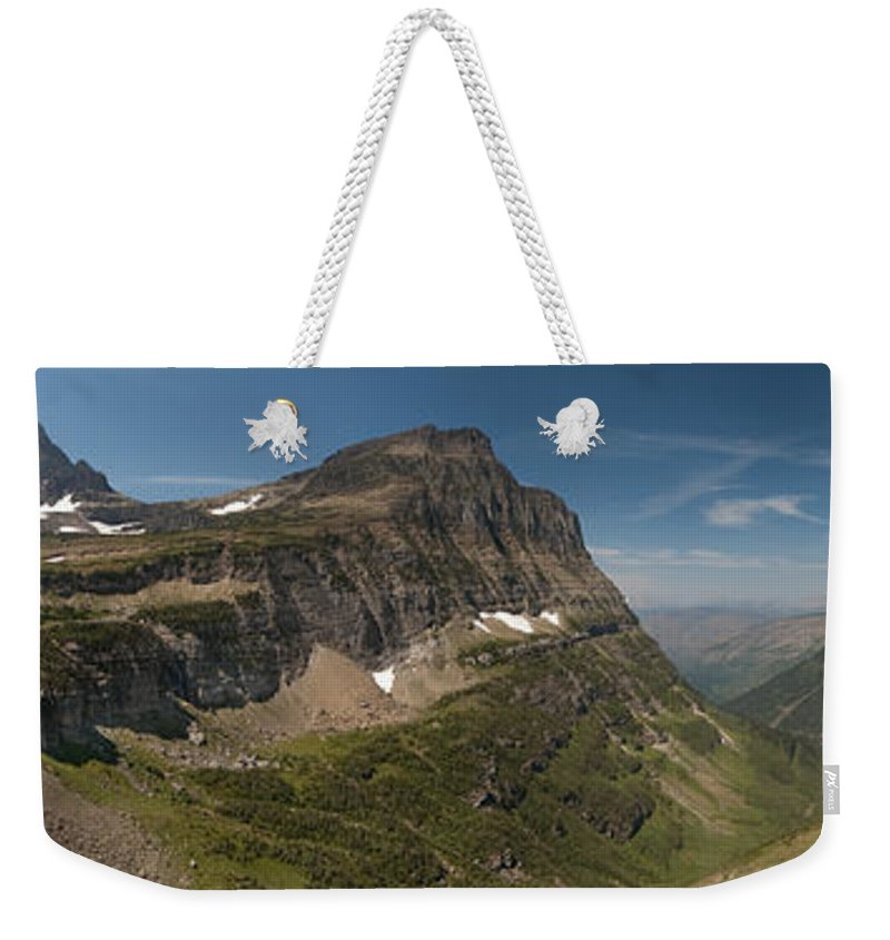Glacier National Park Weekender Tote Bag featuring the photograph Glacier National Park Panorama by Sebastian Musial