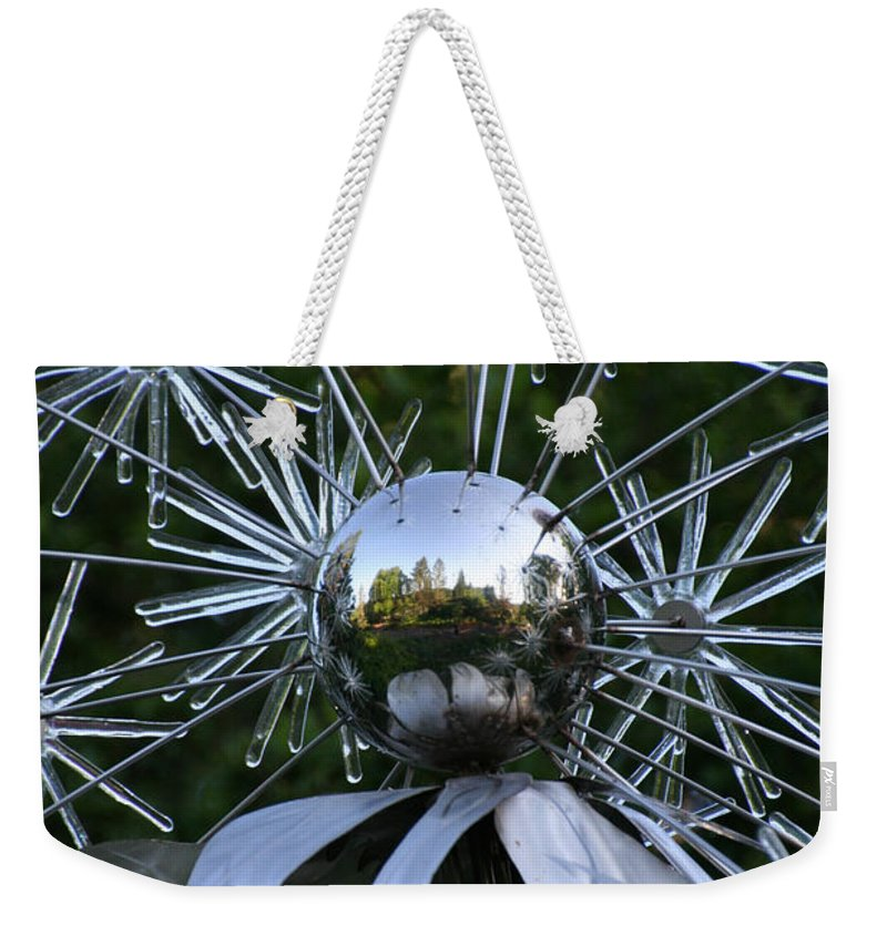 Dandelion Weekender Tote Bag featuring the photograph Glass Art by Susan Herber