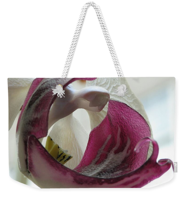 Orchid Weekender Tote Bag featuring the photograph Glass Beauty by Michael Krek