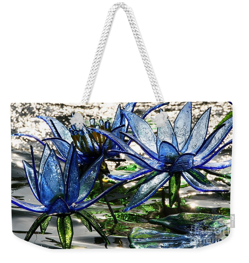 Glass Weekender Tote Bag featuring the photograph Glass Lilies by Susan Herber