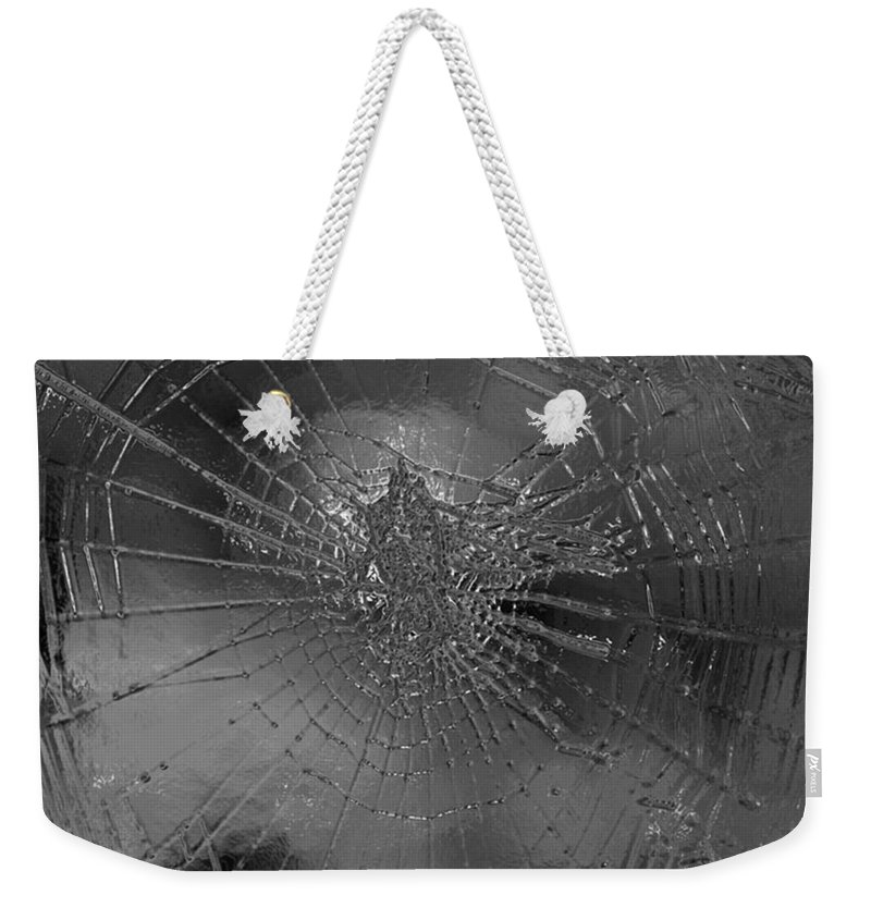 Spider Weekender Tote Bag featuring the digital art Glass Spider by Carol Lynch