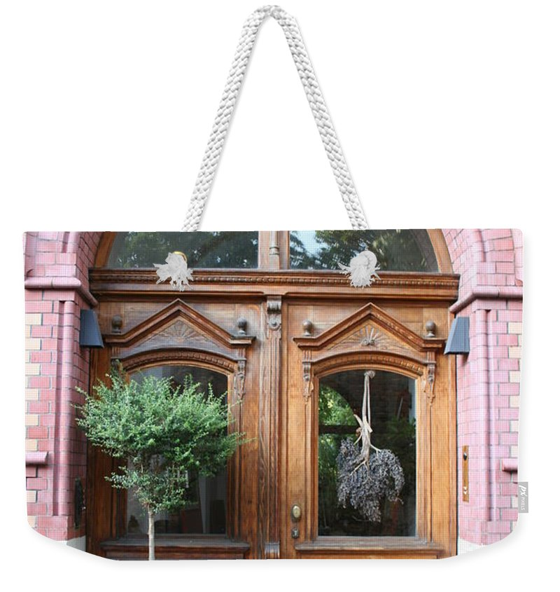 Door Weekender Tote Bag featuring the photograph Glazed Door by Christiane Schulze Art And Photography