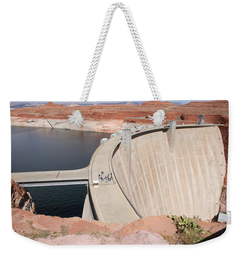 Lake Weekender Tote Bag featuring the photograph Glen Canyon Dam by Christiane Schulze Art And Photography