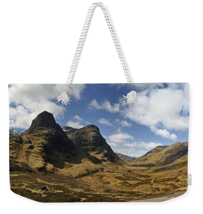 Three Sisters Of Glen Coe Weekender Tote Bag featuring the photograph Glencoe by Alasdairjames