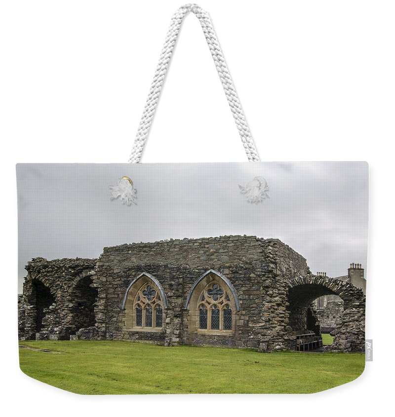 Glenluce Abbey Weekender Tote Bag featuring the photograph Glenluce Abbey - 1 by Paul Cannon