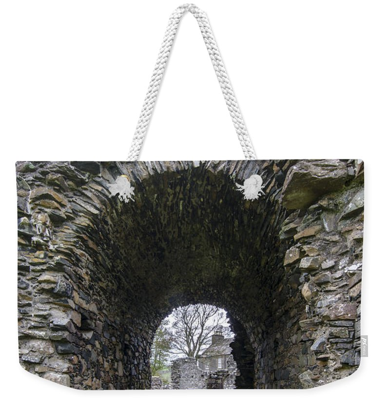 Glenluce Abbey Weekender Tote Bag featuring the photograph Glenluce Abbey - 3 by Paul Cannon