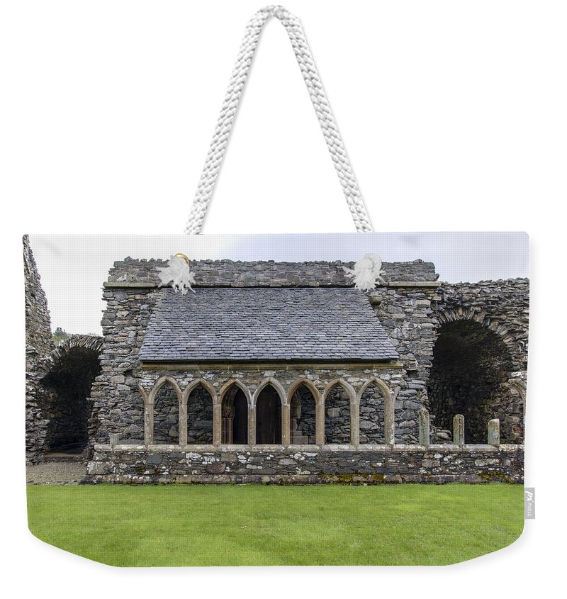 Glenluce Abbey Weekender Tote Bag featuring the photograph Glenluce Abbey - 5 by Paul Cannon