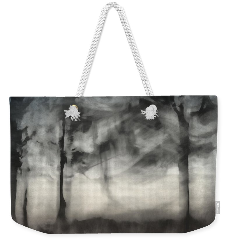 Row Weekender Tote Bag featuring the photograph Glimpse Of Coastal Pines by Carol Leigh