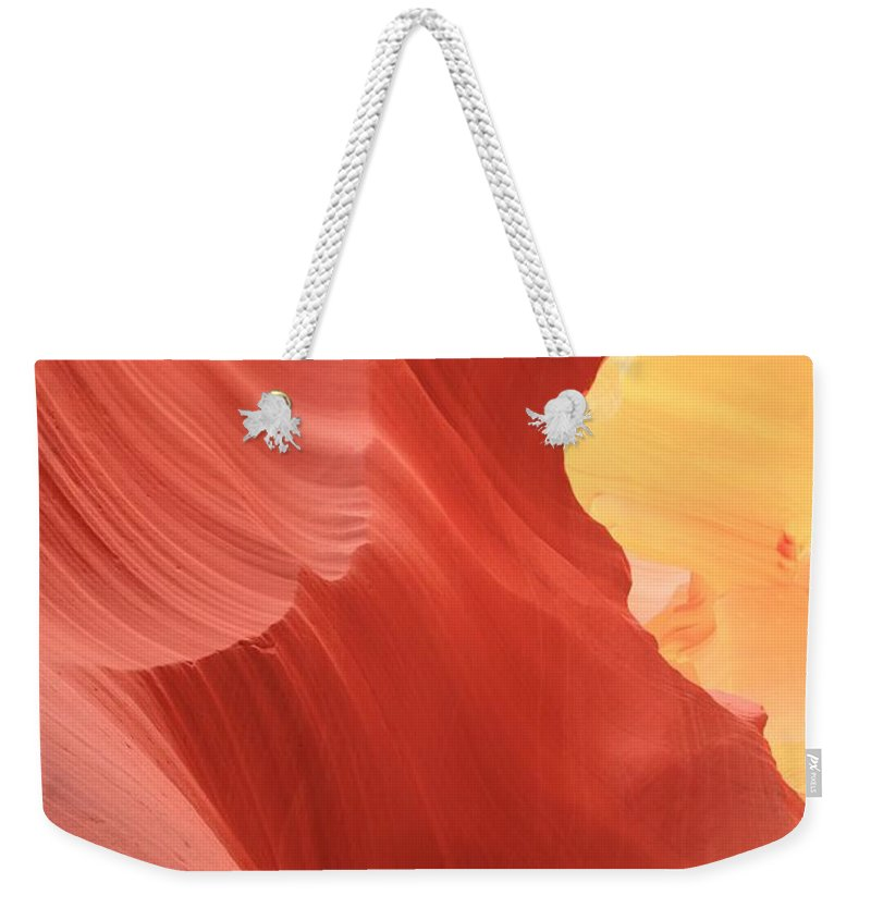 Arizona Slot Canyon Weekender Tote Bag featuring the photograph Glow Under The Desert Floor by Adam Jewell