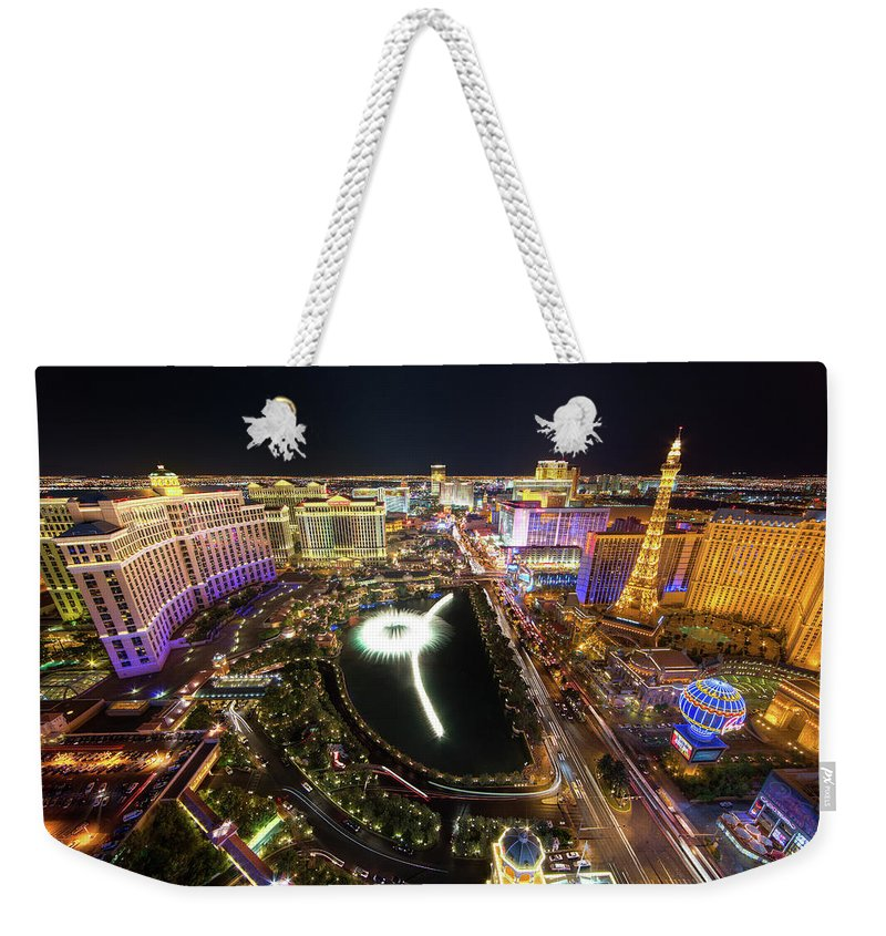 Built Structure Weekender Tote Bag featuring the photograph Glowing Night by Eric Lo