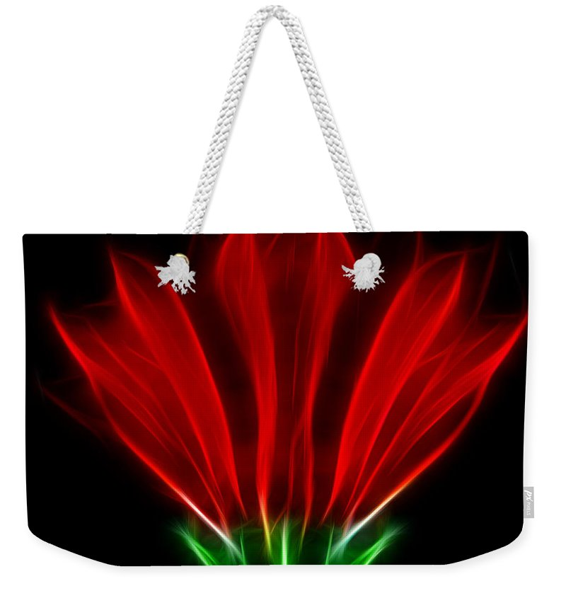 Flowers Weekender Tote Bag featuring the photograph Glowing Red by Ben Yassa