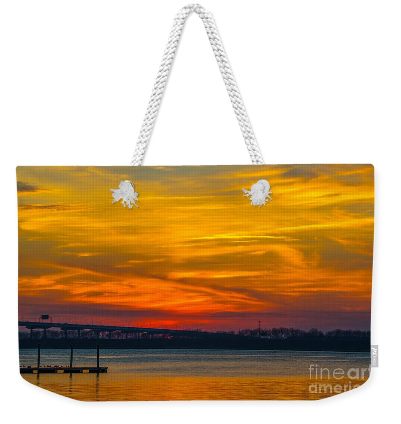 Sunset Weekender Tote Bag featuring the photograph Glowing With Color by Dale Powell