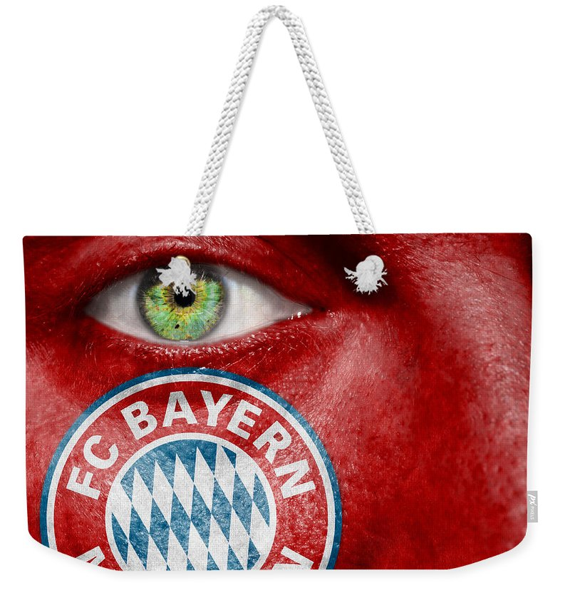 Art Weekender Tote Bag featuring the photograph Go Fc Bayern Munchen by Semmick Photo