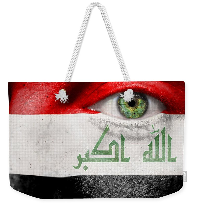 Art Weekender Tote Bag featuring the photograph Go Iraq by Semmick Photo