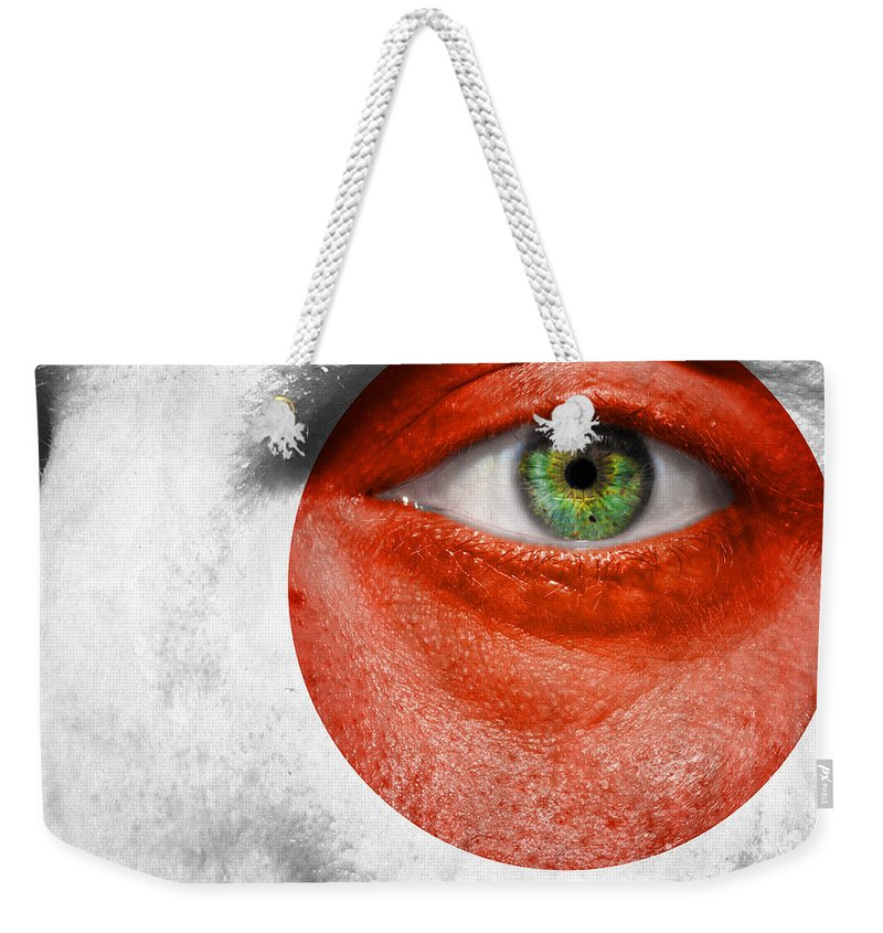 Art Weekender Tote Bag featuring the photograph Go Japan by Semmick Photo
