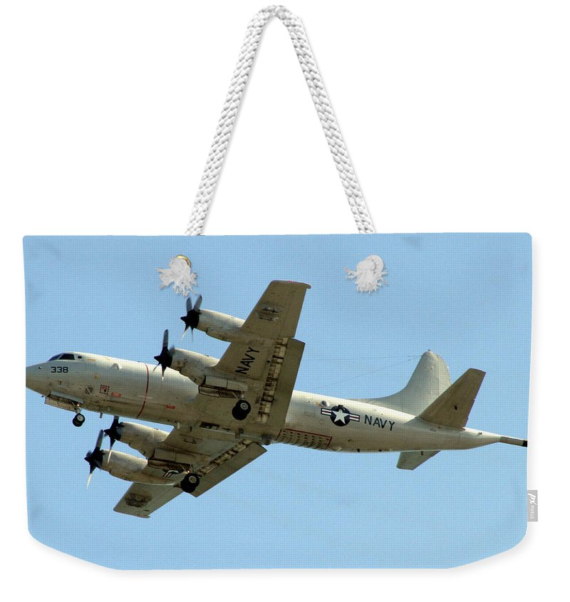 Sky Weekender Tote Bag featuring the photograph Go Navy by Bob Slitzan