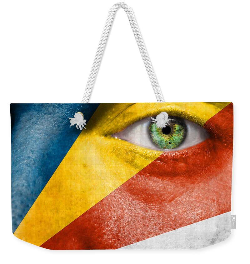Art Weekender Tote Bag featuring the photograph Go Seychelles by Semmick Photo